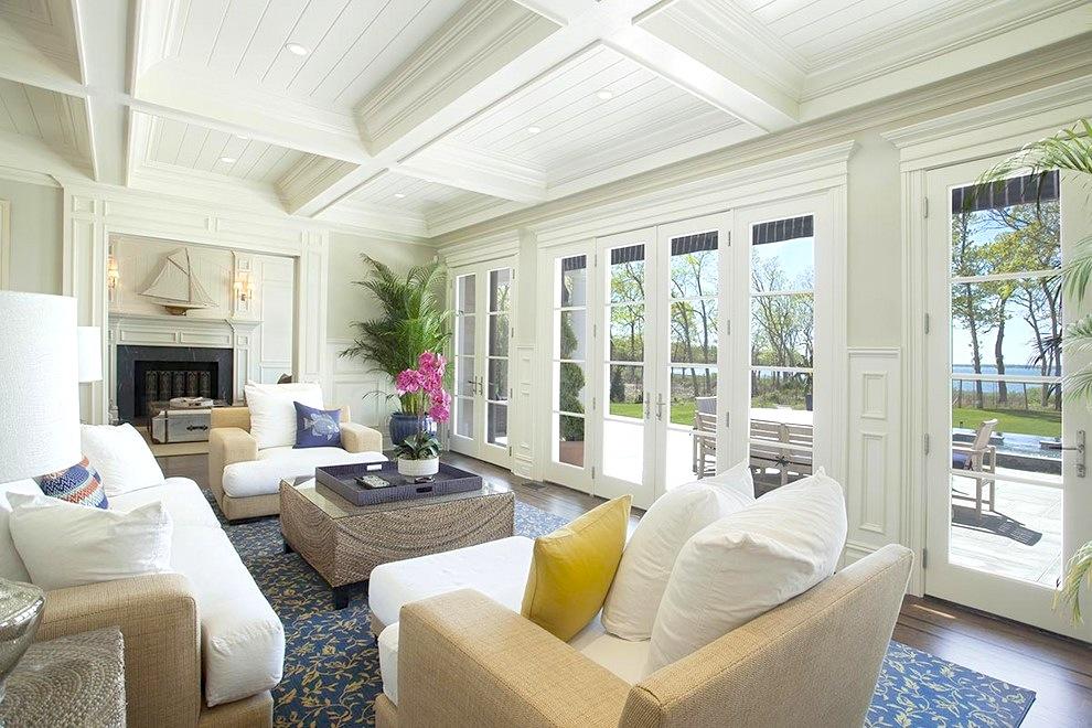 Antique furniture for Hamptons living room designs